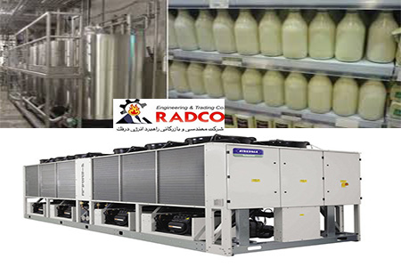 کاربرد چیلر صنعتی در کارخانه تولید شیر