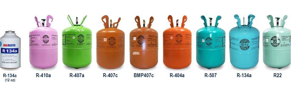 قیمت گاز مبرد ، مشخصات فنی انواع گاز مبرد