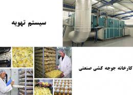 سیستم تهویه کارخانه جوجه کشی صنعتی